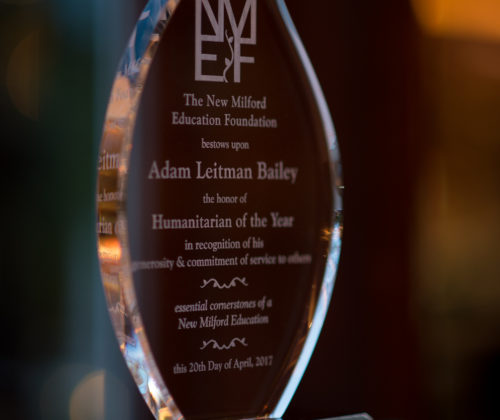 The New Milford Education Foundation honors Adam Leitman Bailey as our Humanitarian of the Year!