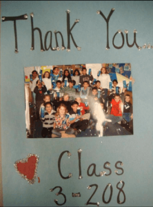 """We love our water bottles. Thank you for being so generous. Thanks for helping our class go GREEN!"""